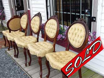five victorian chairs