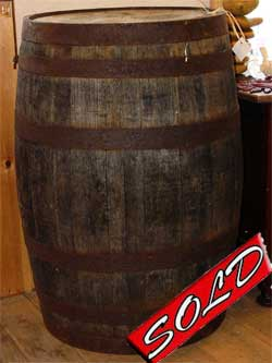 old sealed wine barrel