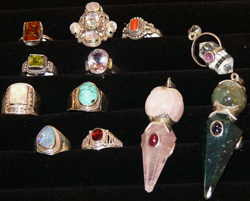 rings and earrings